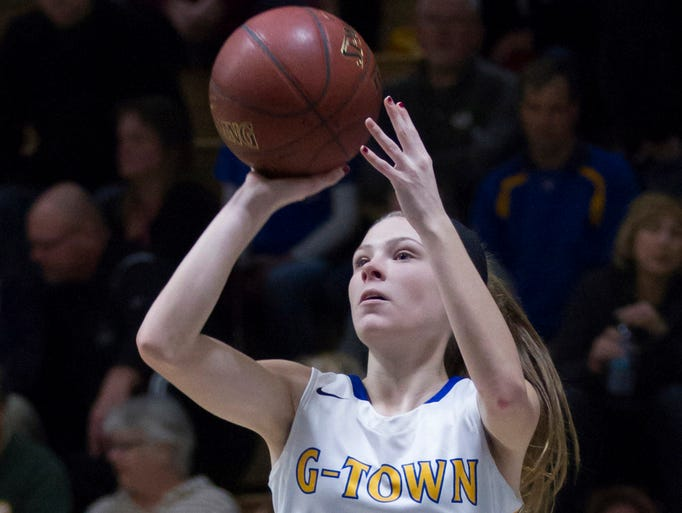 Germantown junior Megan Ische takes a shot during a
