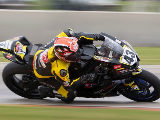 Caroline Olsen qualifies in the Supersport class Saturday at Road America.