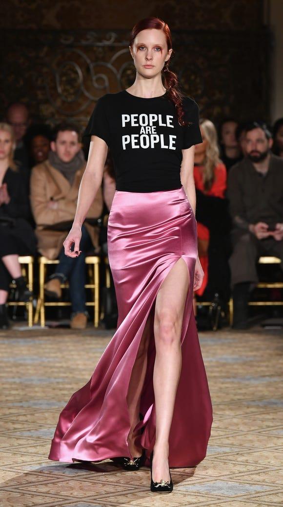 Siriano's Depeche Mode-inspired t-shirt was one of