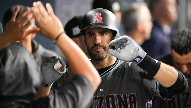 Slugger J.D. Martinez hit .303 with 45 homers and 104 RBIs last year with the Tigers and Diamondbacks.