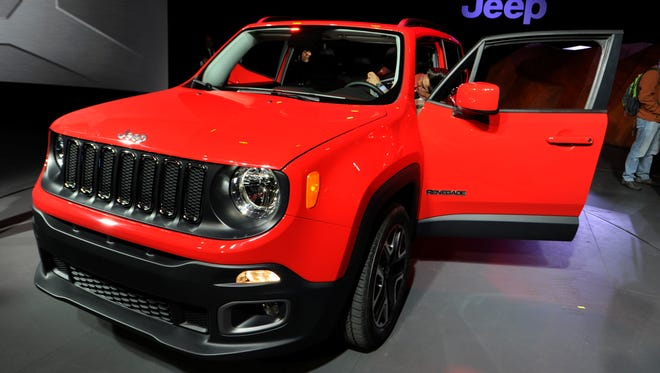 2015 Jeep Renegade on display at the New York Auto Show.