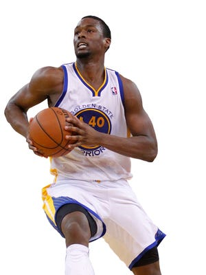 Harrison Barnes is slightly ahead of his scoring average, made field goals per game and assists per game than his rookie season while playing more minutes. USA TODAY Jan 26, 2014; Oakland, CA, USA; Golden State Warriors forward Harrison Barnes (40) drives to the hoop against the Portland Trail Blazers in the fourth quarter at Oracle Arena. The Warriors defeated the Trail Blazers 103-88.