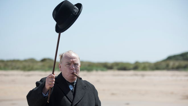 "Brian Cox as Winston Churchill in the movie ""Churchill."""
