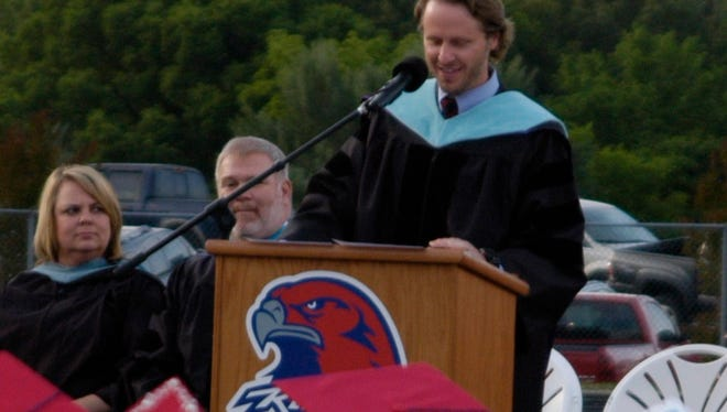 Dr. Andrew Williams at the Creek Wood graduation Thursday night.