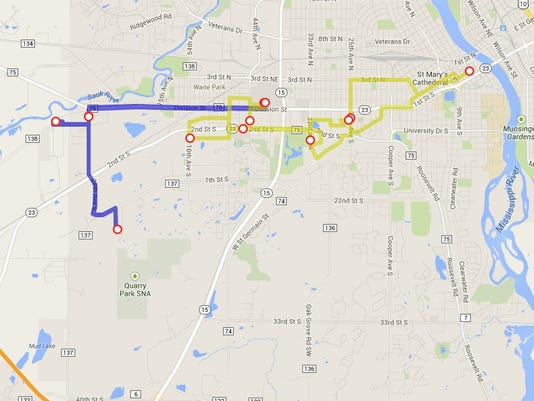 Metro Bus to merge route in west St  Cloud