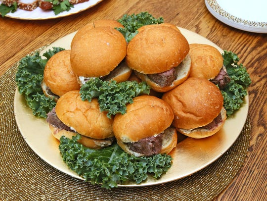 This recipe makes enough beef tenderloin sandwiches