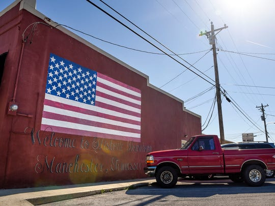 A mural located in the historic downtown area of Manchester,