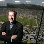 Dan Ariens in his skybox at Lambeau Field. The president and CEO of Ariens Company, which produces snow blowers and lawn mowers, was voted chairman of the WEDC.