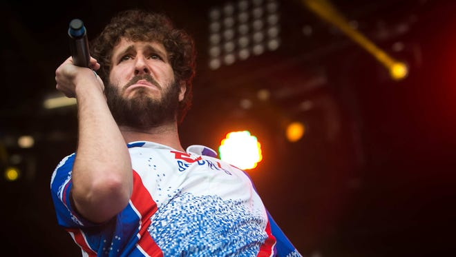 Lil Dicky performs on the Lawn Stage on day two of Firefly Music Festival. Dicky will have a concert at Ball State University on April 24.