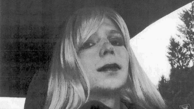 Pfc. Chelsea Manning poses for a photo wearing a wig and lipstick. On Tuesday, Jan. 17, 2017, President Barack Obama commuted the sentence of Chelsea Manning, who leaked Army documents and is serving 35 years.