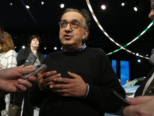 Sergio Marchionne at the 2016 North American International