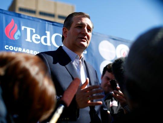 Republican presidential candidate, Sen. Ted Cruz, R-Tx.,