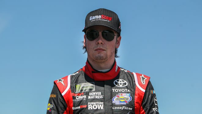 Erik Jones, 21, is currenty 14th in the Cup standings as a rookie for JGR affiliate Furniture Row Racing.