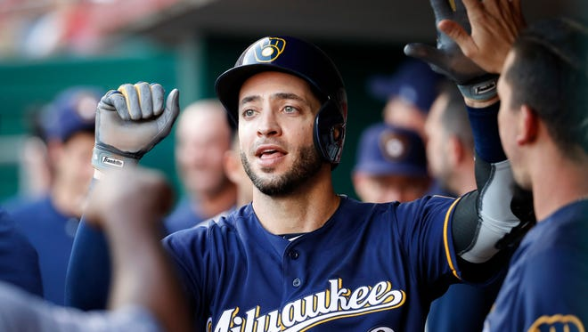 Playing in 71 of the Brewers' first 98 games, Ryan Braun has batted uncharacteristically low .235 with 10 home runs, 35 RBI, a .283 on-base percentage.