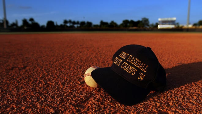 The Bishop Verot High School baseball team won a state title in 1994.