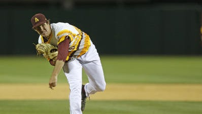 Ryan Kellogg pitched 6.1 innings Saturday at USC and took the loss in a 7-3 Trojans win.