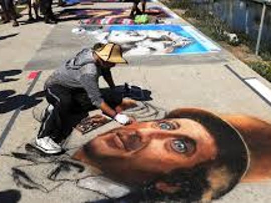 Head to the Old Mission Santa Barbara for a street art festival.