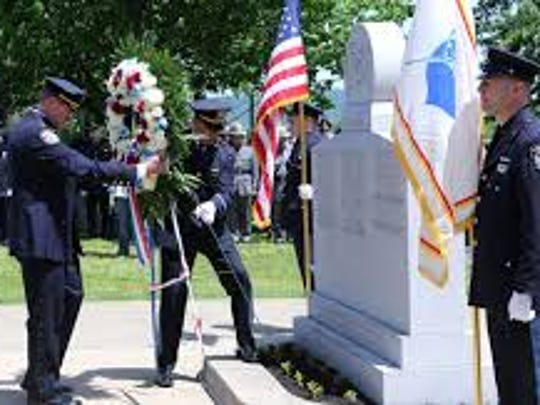 Rockland Police Memorial ceremony honoring officers killed in the line of duty