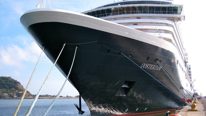 """Holland America Line's 82,305-gross-ton, 2003-built MV Oosterdam is the second of four Vista Class ships named for the four points on the compass. Oosterdam (""""oost"""", which rhymes with """"toast"""", means """"east"""" in Dutch) followed the 2002-built Zuiderdam (""""south"""") and was joined by the 2004-built Westerdam and 2006-built Noordam (""""north"""")."""