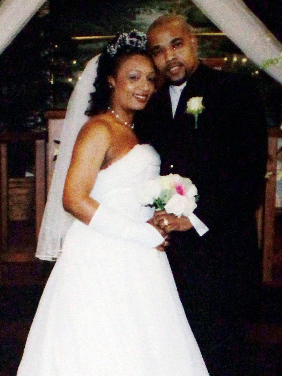A photo taken from Mesac Damas and Guerline Damas' wedding at First Haitian Baptist Church on April 14, 2007.