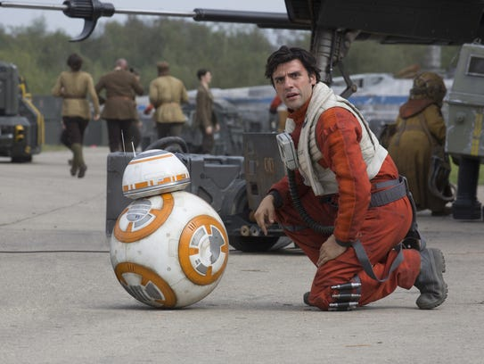 The loyal droid BB-8 (seen here with Oscar Isaac in