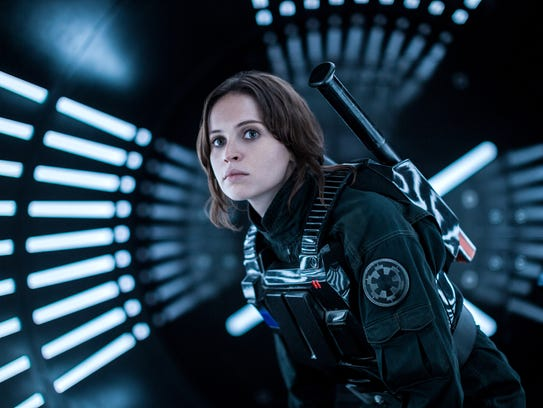 """Felicity Jones in """"Rogue One: A Star Wars Story"""" (Credit: Jonathan Olley, Lucasfilm-Walt Disney Studios Motion Pictures)"""