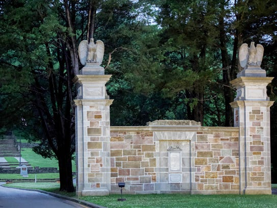 WARNER PARKS: Percy Warner Park's iconic stone gates,