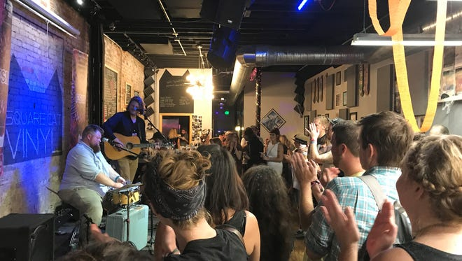 Busman's Holiday performed at Square Cat Vinyl during the Fountain Square Music Festival on Oct. 7, 2017.
