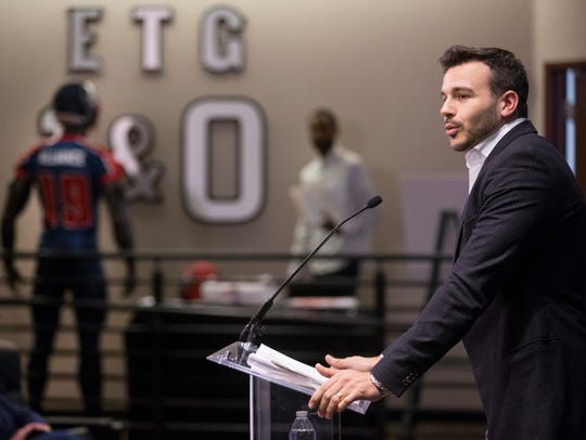 Alliance of American Football CEO Charlie Ebersol