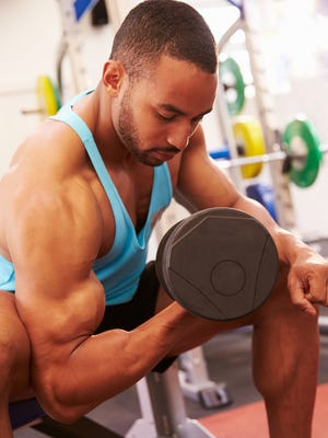 Bicep curls effectively load  muscles eccentrically and concentrically in the same exercise.