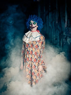 "A stock image of a ""creepy"" clown. Reports of clown sightings have put police on alert."