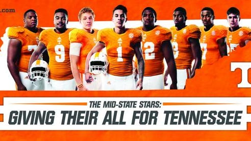 Eight Tennessee players from the Midstate will be featured on billboards in the area.