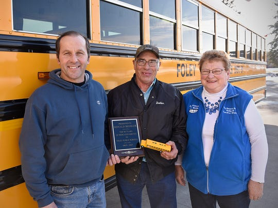 Foley School Bus Driver Passes 50 Years On Road