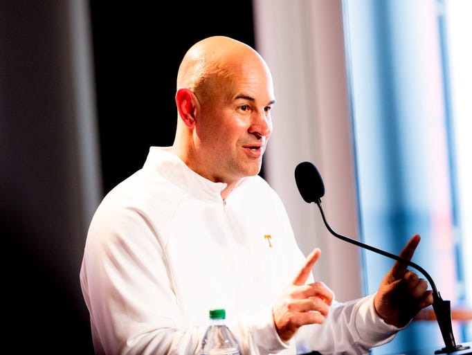 Tennessee Head Coach Jeremy Pruitt speaks at his first