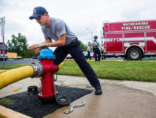 Waynesboro Fire Department training