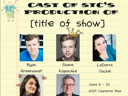 Title of Show poster with cast members Ryan Greenswalt,