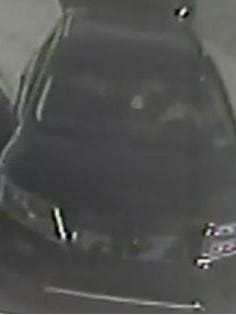 Surveillance footage of the car the suspect was seen getting into after shooting the store clerk.