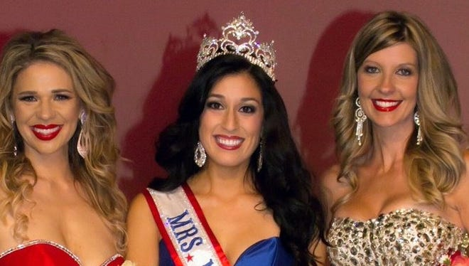 The top three contestants were (from left): Mrs. Rio Rancho Krystal Moya, Second Runner-Up;Mrs. Albuquerque Christina Wildau and Mrs. San Juan County Savanah Ray, First Runner-Up.