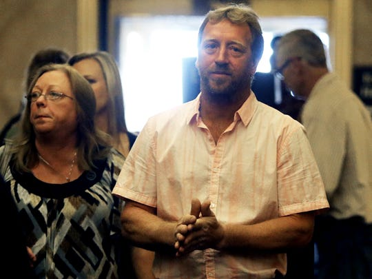 Marcie and Jay Steger, parents of Kira Steger, appear in a Minnesota courthouse for the start of the homicide trial of Jeffery Trevino.