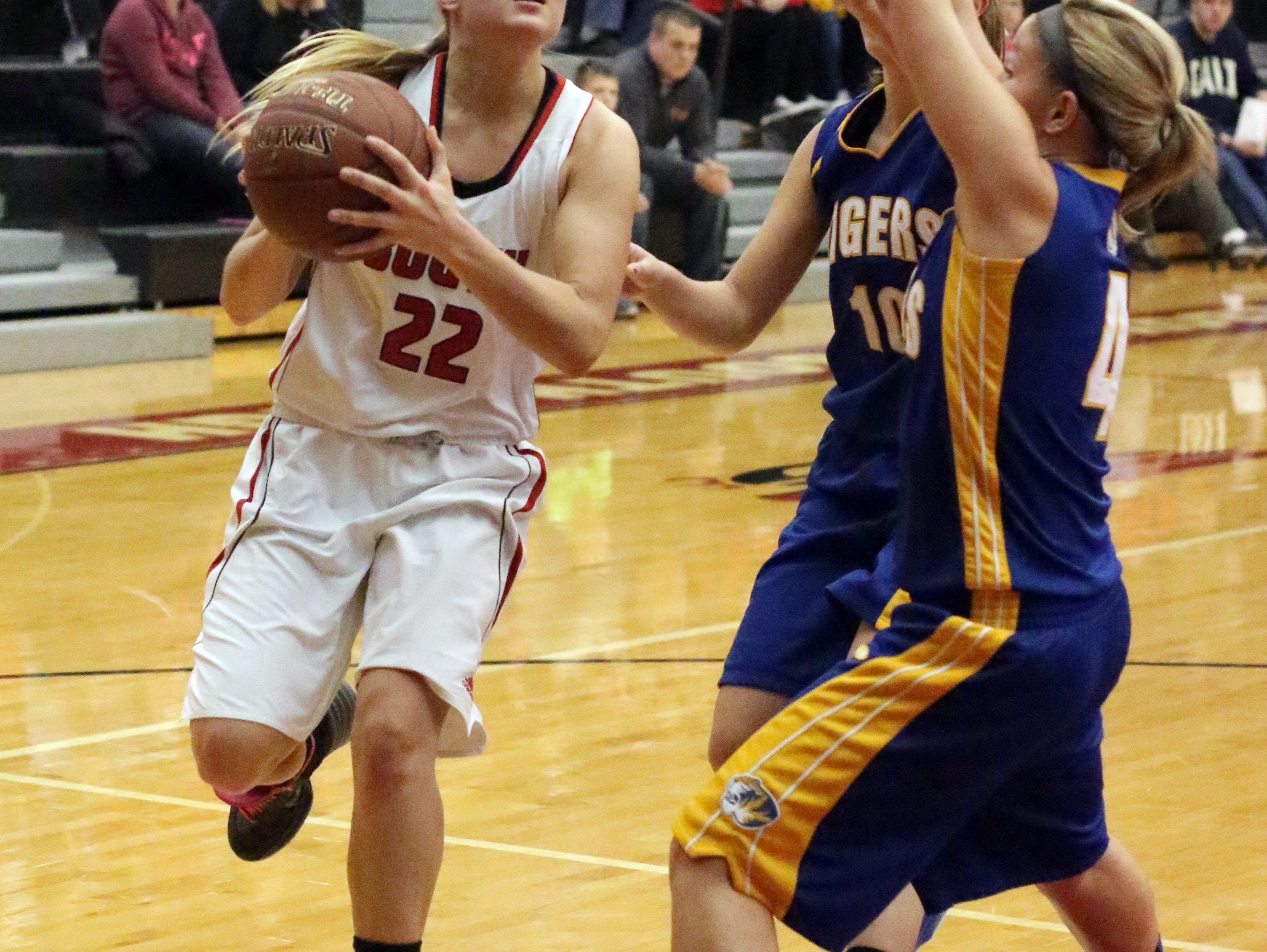Senior Jessika McNellis was the Redwings leading scorer and rebounder last year and will be one of the top players in the FRCC this season.
