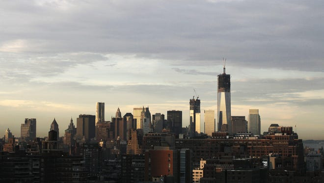 The Freedom Tower as it was being built in 2012.