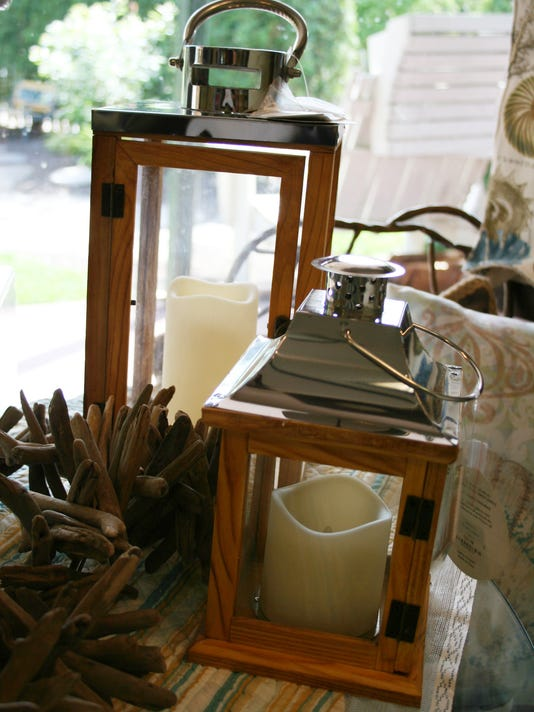 Rustic lanterns with faux candles on a timer.jpg
