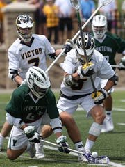 Victor #5 Matt Gardner and Yorktown #43 Justin Cavallo