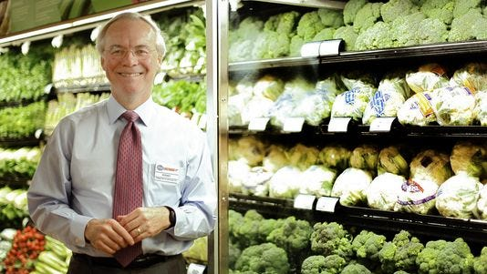 Kroger CEO Rodney McMullen inside of the Anderson Twp. location.