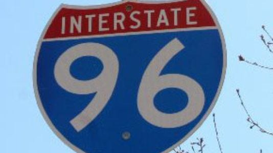 This Detroit Free Press archive photo shows a sign for the I-96 freeway.