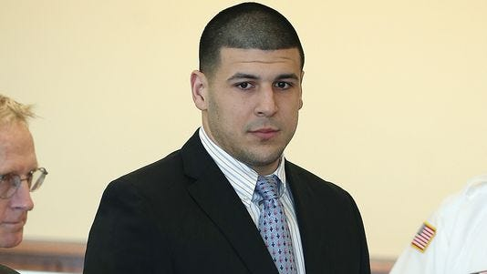 Former Patriots tight end Aaron Hernandez has been incarcerated since last summer.