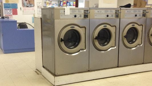 A 5-year-old girl was airlifted to the hospital Tuesday after police say she was locked in a washing machine.