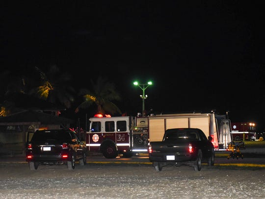 Guam Fire and Police Department units responded to