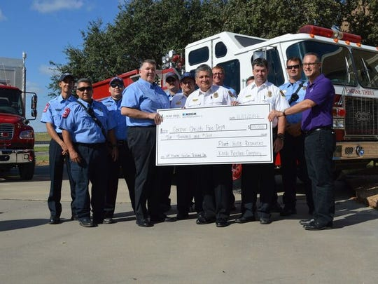 The Corpus Christi Fire Department was awarded $10,000 by Flint Hills Resources and Koch Pipeline Company through the Helping Heroes program.