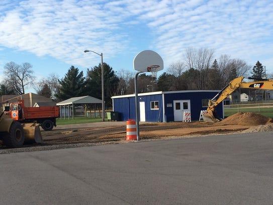 Construction work on the new Nekoosa skate park takes